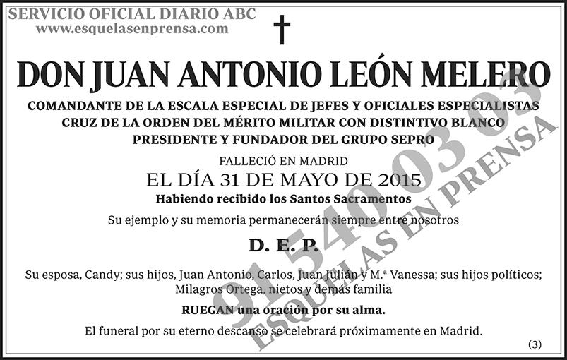 Juan Antonio León Melero
